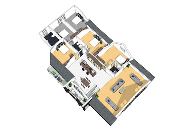 Nursery Extension Nottingham 3D Plan FF